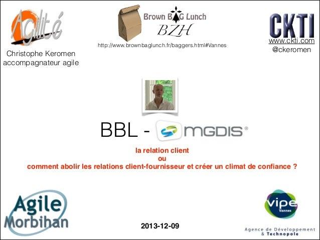 http://www.brownbaglunch.fr/baggers.html#Vannes  Christophe Keromen accompagnateur agile  www.ckti.com @ckeromen  BBL - M...