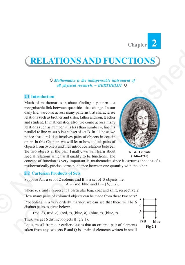 Chapter       2      RELATIONS AND FUNCTIONS                                                             he               ...