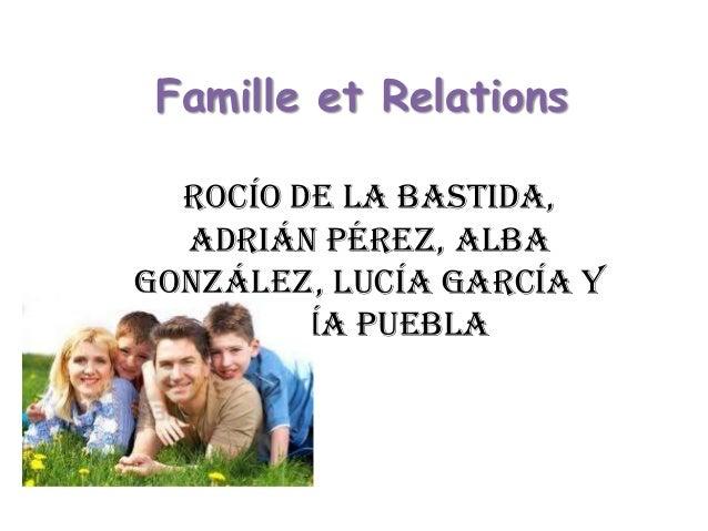 Famille et Relations Rocío de la Bastida, Adrián Pérez, Alba González, Lucía García y Sofía Puebla