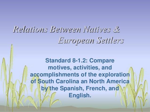 Relations between natives & european settlers 8 1.2