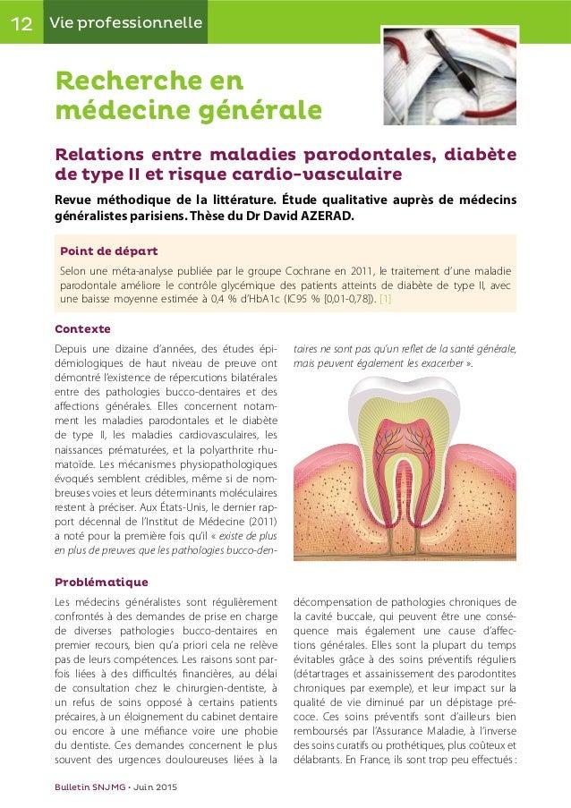12 Vie professionnelle Bulletin SNJMG • Juin 2015 Recherche en médecine générale Contexte Depuis une dizaine d'années, des...