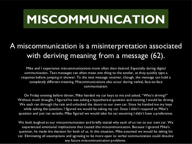 miscommunication conclusion Intercultural miscommunication: impact on esol students intercultural miscommunication: impact on esol students and conclusion intercultural.