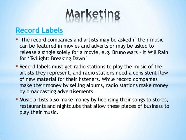 How exactly does the record label work with the artists?