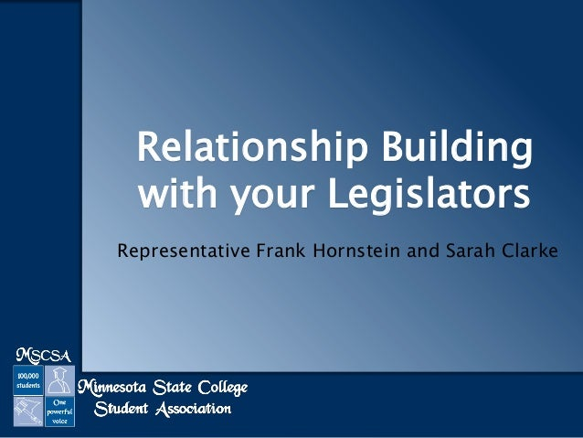 Relationship Building with your Legislators