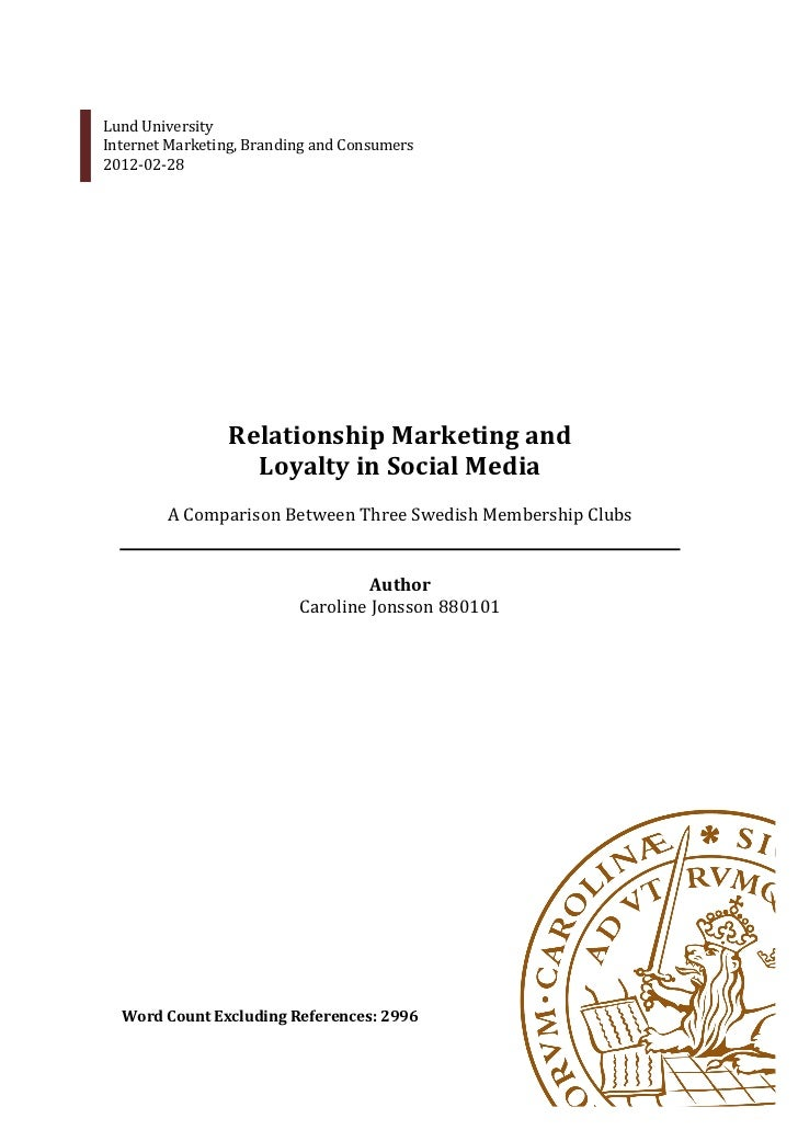 Relationship marketing in social media jonsson