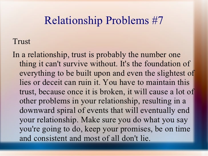 Trust issues from past relationships