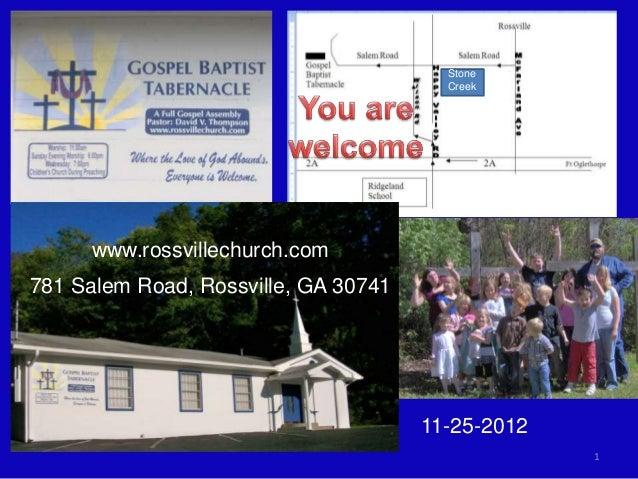 Stone                                        Creek      www.rossvillechurch.com781 Salem Road, Rossville, GA 30741        ...