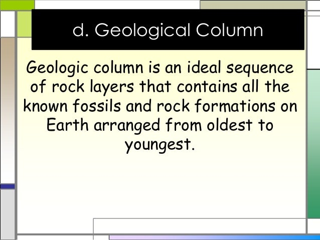 how is the geologic column used in relative dating Earth's history mrs soeder's 8th how is the geologic column used in relative dating how are index fossils used to determine the relative dating of.