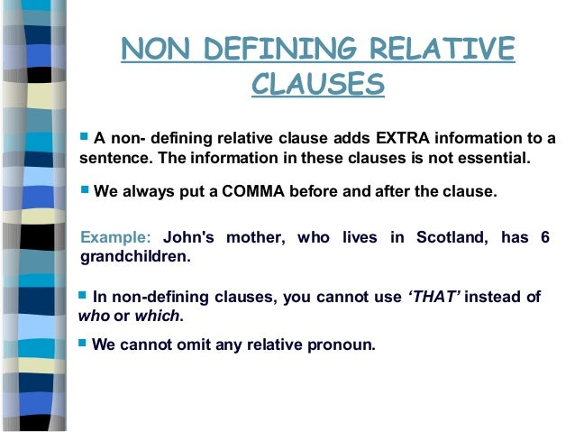 defining and non defining relative clauses pdf