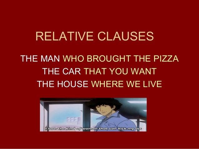 Relative clauses intro (Relative pronouns 1)