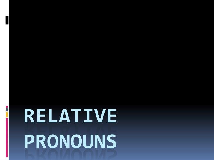 Relative pronouns para enviar