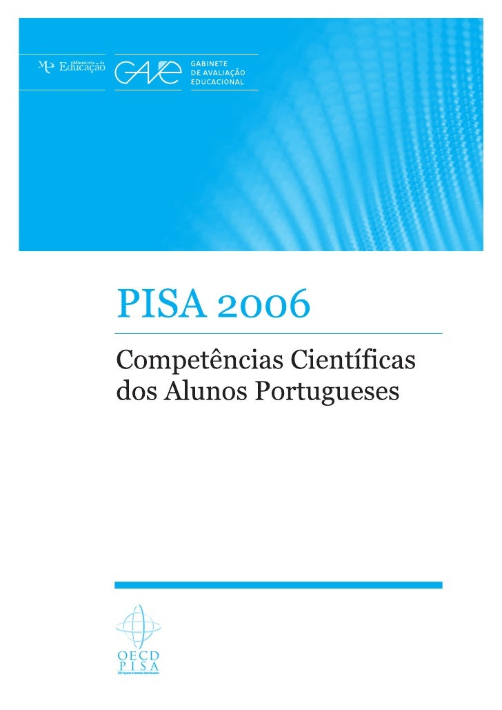 Relatorio nacional pisa_2006