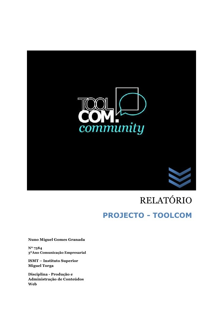 Relatorio TOOLCOM