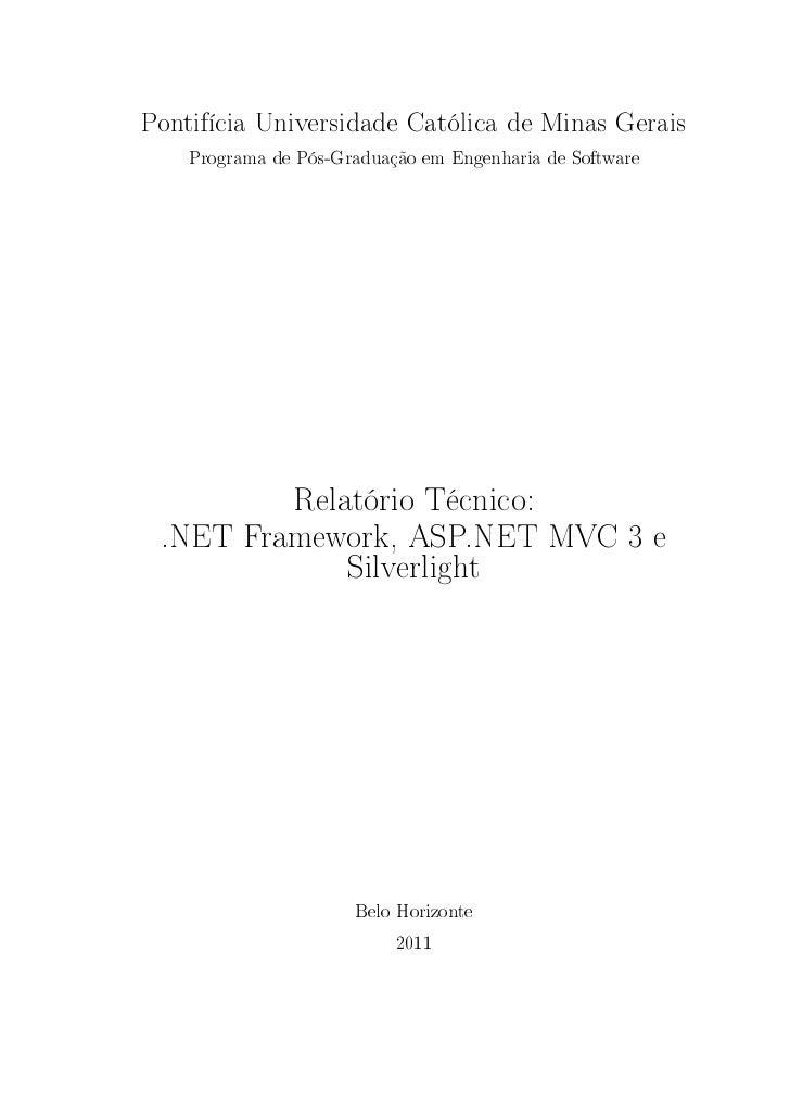 Relatório Técnico: .NET Framework, ASP.NET MVC 3 e Silverlight