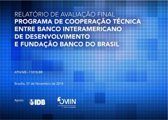 ATN/ME 11818 BR - AVALIAÇÃO FINAL