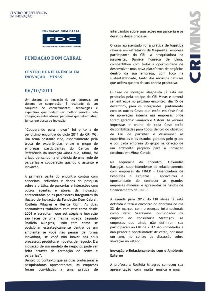Relatorio 06outubro2011