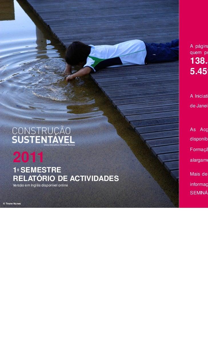 Relatorio 1º Semestre 2011 - Português
