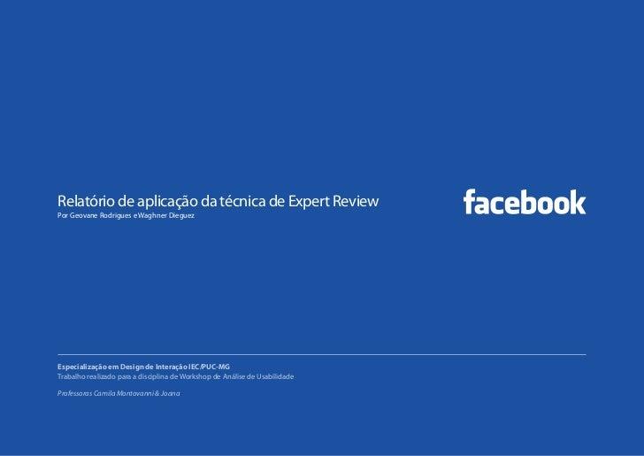 Aplicação da Técnica de Expert Review no Facebook
