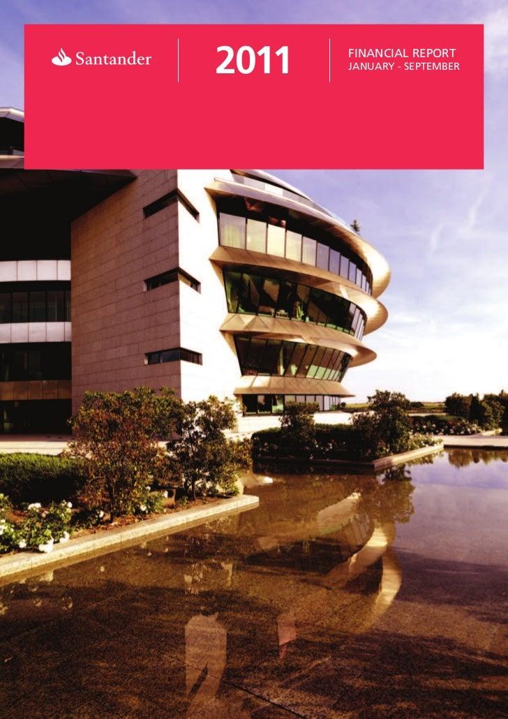 Relatório financeiro 3T 2011 Banco Santander