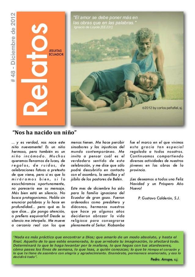 """# 48 - Diciembre de 2012                                               """"El amor se debe poner más en                      ..."""