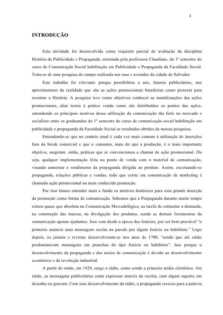 3INTRODUÇÃO     Esta atividade foi desenvolvida como requisito parcial de avaliação da disciplinaHistória da Publicidade e...