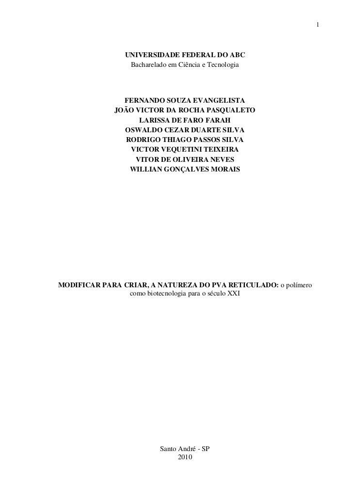 1                UNIVERSIDADE FEDERAL DO ABC                 Bacharelado em Ciência e Tecnologia               FERNANDO SO...