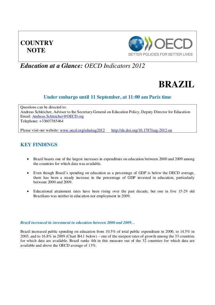 Relatório da OCDE