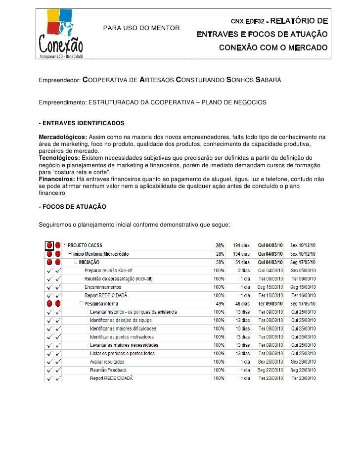 Relatório de entraves e focos de atuação cnx mercado 23 03_2010