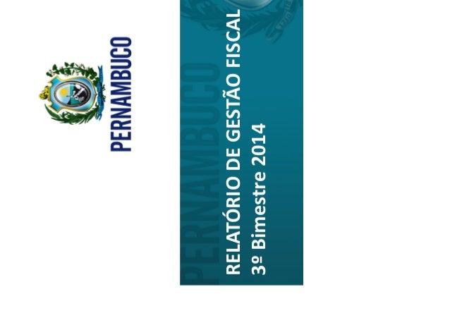 Relatório de gestão fiscal primeiro semestre 2014 final