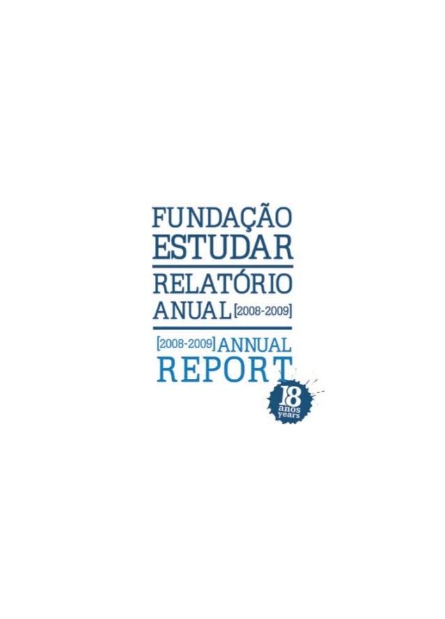 Relatório Fundação Estudar 2008-2009