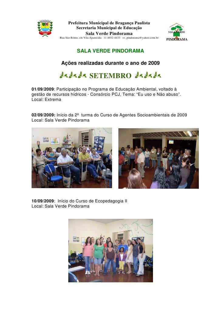 Prefeitura Municipal de Bragança Paulista                        Secretaria Municipal de Educação                         ...