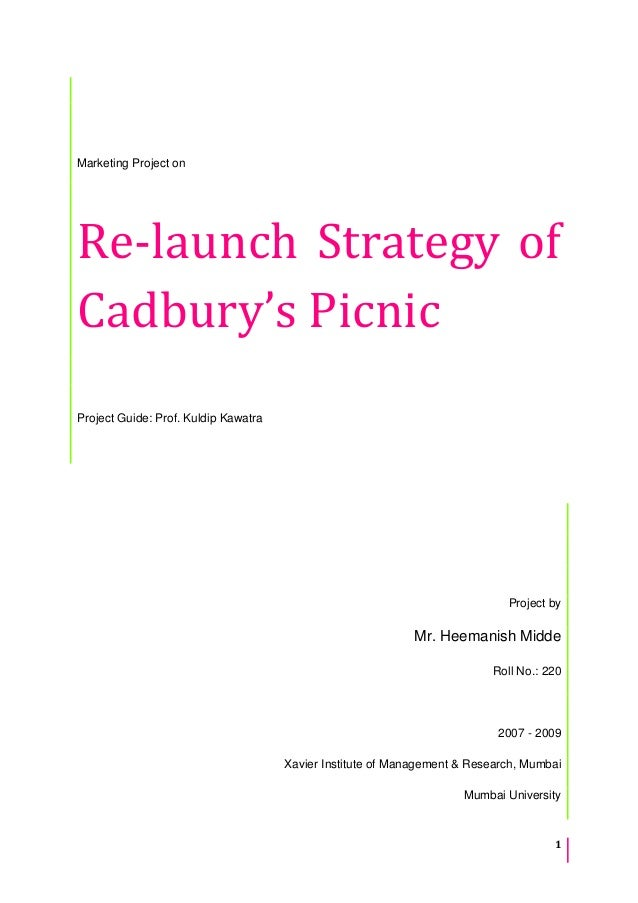 Relaunch strategy of Cadbury's Picnic