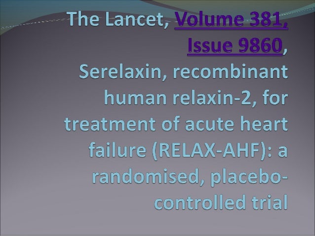 Relaxin  in acute heart failure ppt