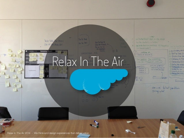 Relax In The Air  Relax In The Air 2014 - We think and design experiences that deliver value