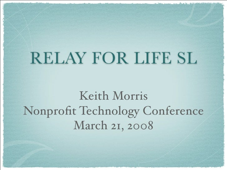 Relay For Life SL