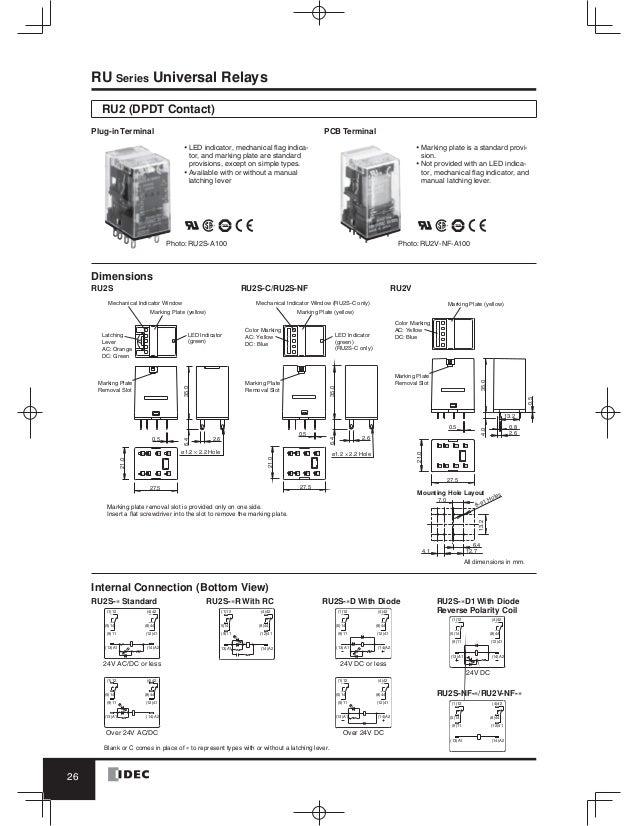 catalog relay idec www haophuong com Latching Relay Wiring Diagram SPST Relay Wiring Diagram