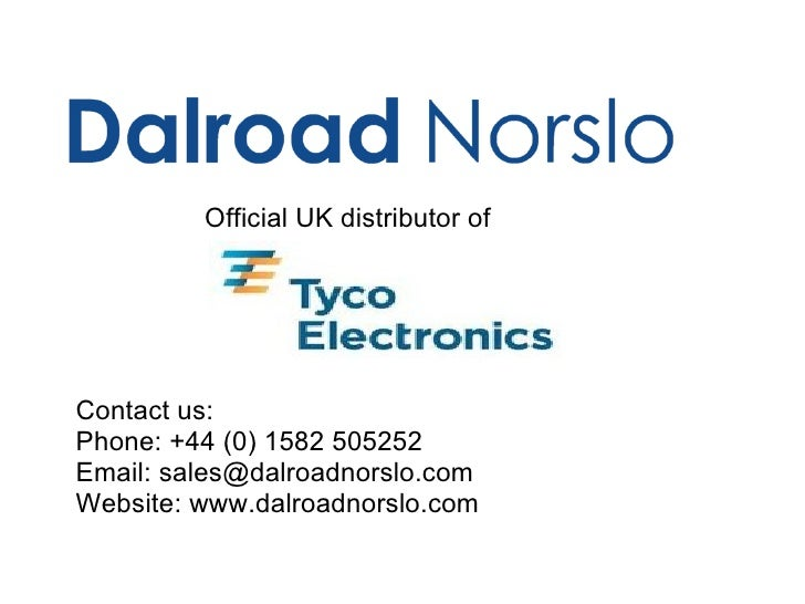 Dalroad Norslo - Industrial Equipment - Relay training level 1 -  Tyco Electronics