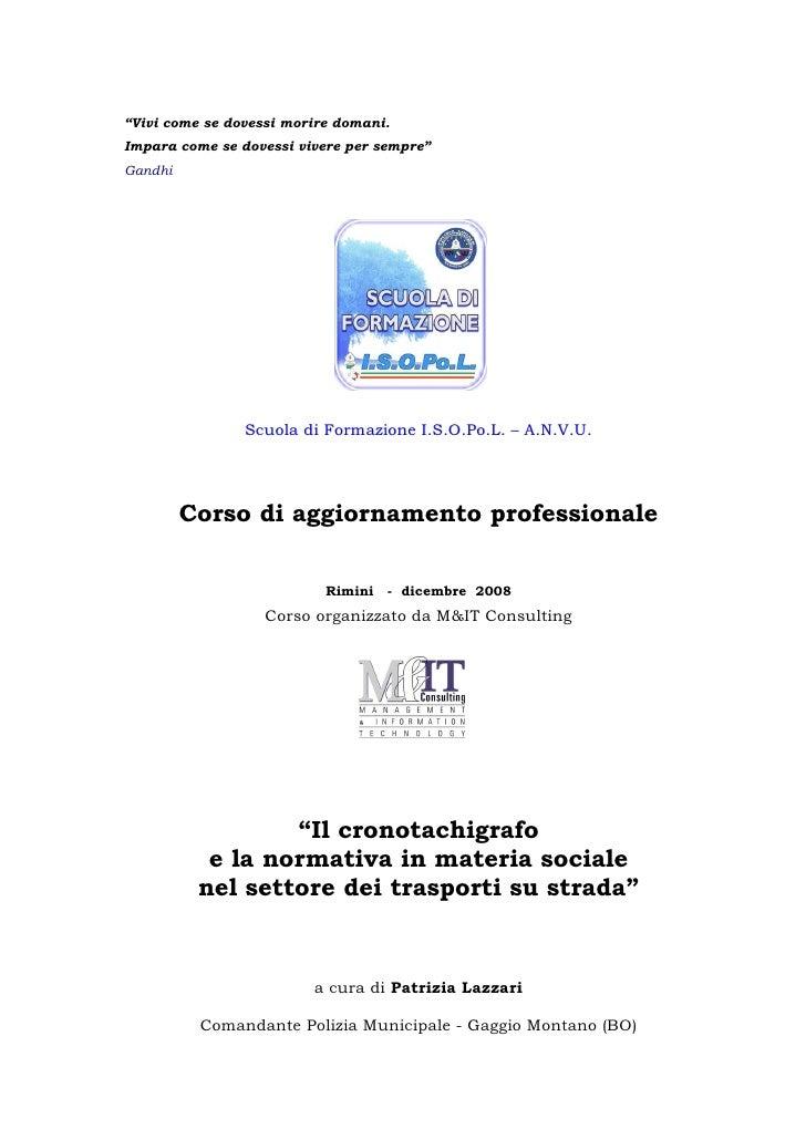 Relazione Crono Rimini Dic 2008 Compressa