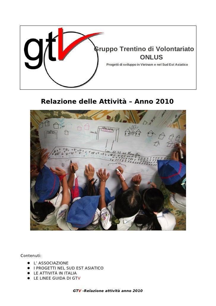 Relazione attivita 2010