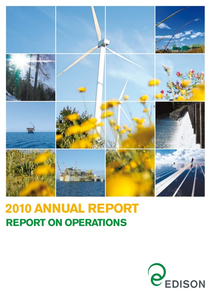 2010 ANNUAL REPORTREPORT ON OPERATIONS