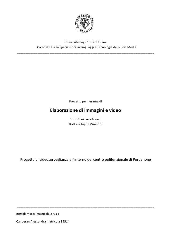 Università degli Studi di Udine             Corso di Laurea Specialistica in Linguaggi e Tecnologie dei Nuovi Media ______...