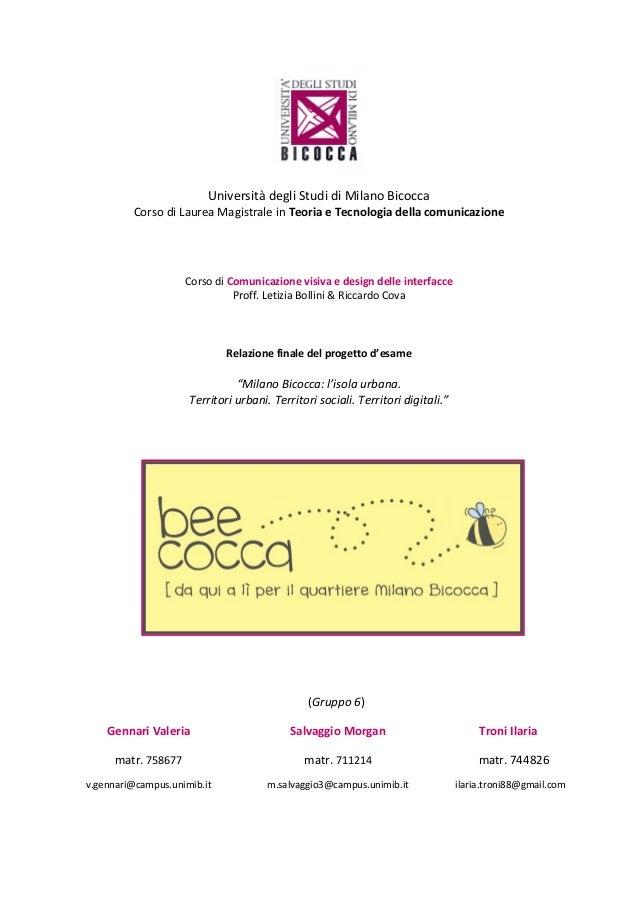 Relazione finale Bee_cocca
