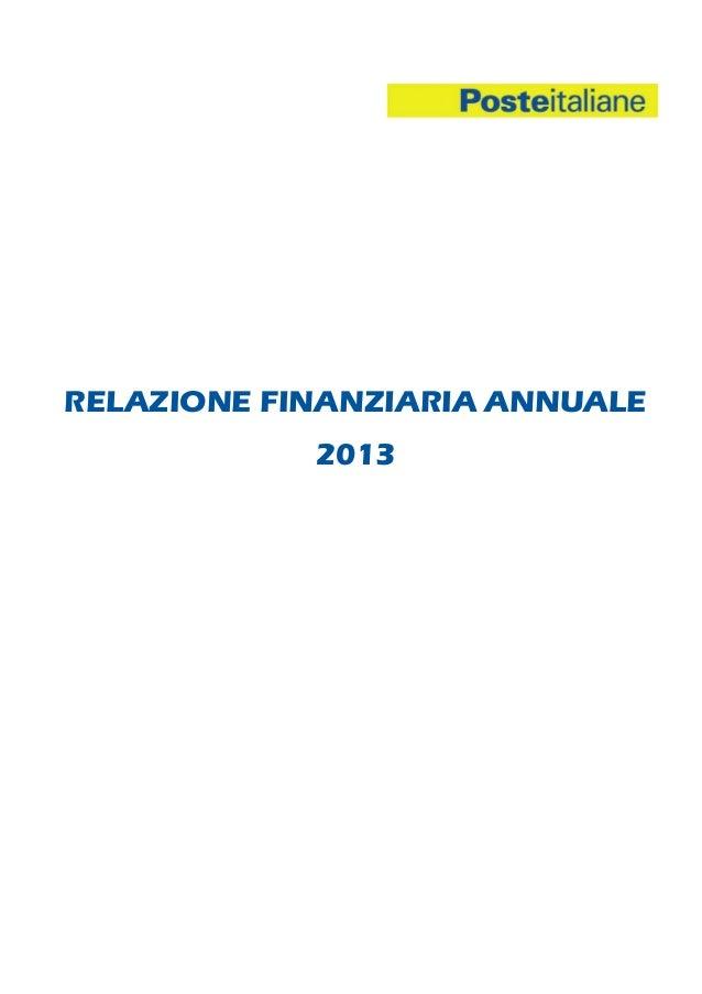 RELAZIONE FINANZIARIA ANNUALE 2013