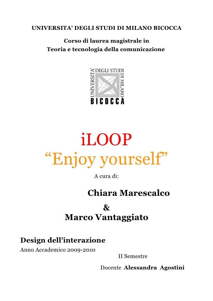 Relazione  iLoop Marescalco & Vantaggiato