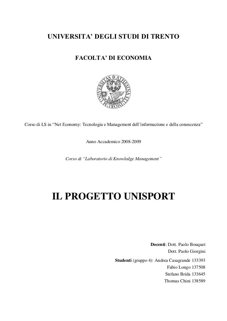 Relazione laboratorio knowledge management