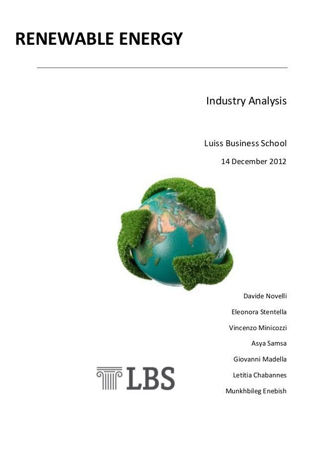 Report rewenable energy