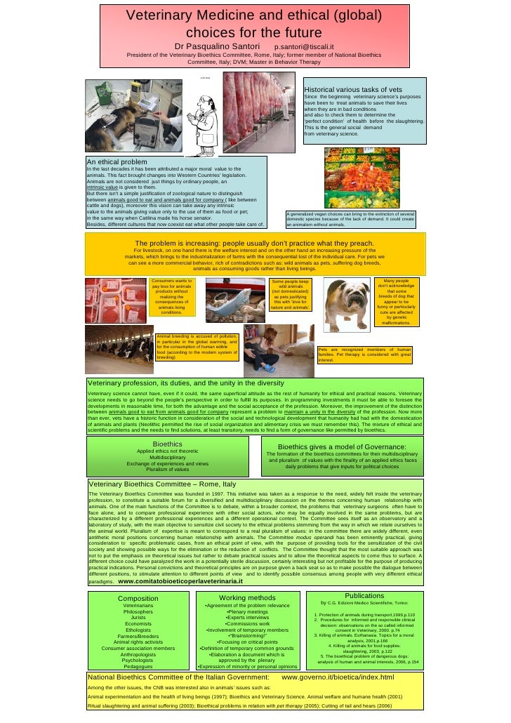 Veterinary Medicine and ethical (global)                           choices for the future                                 ...
