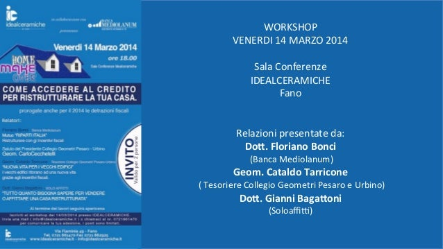 Convegno 14 marzo Idealceramiche italia