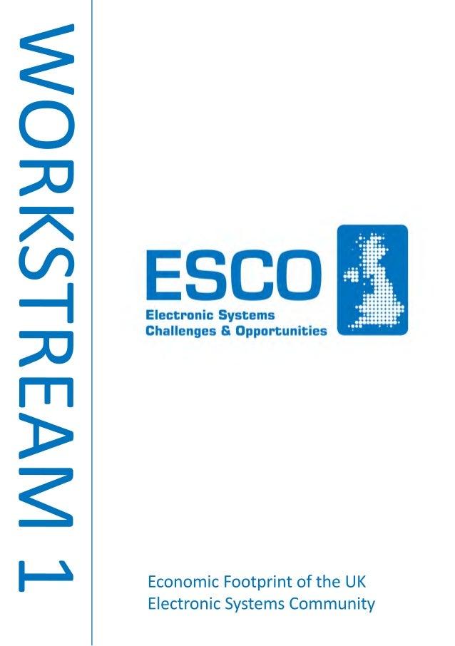 WORKSTREAM1 EconomicFootprintoftheUK ElectronicSystemsCommunity