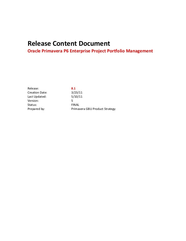 Release Content Do...